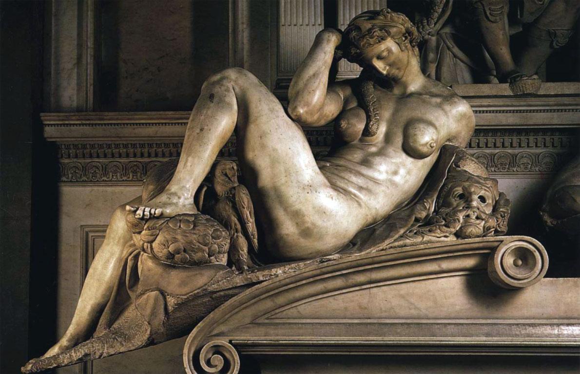 Sagrestia nuova - scultura di Michelangelo