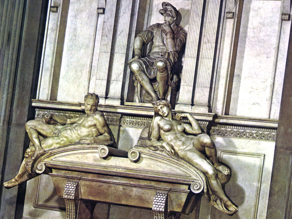 Scultura di Michelangelo: Lorenzo duca Urbino, tomba