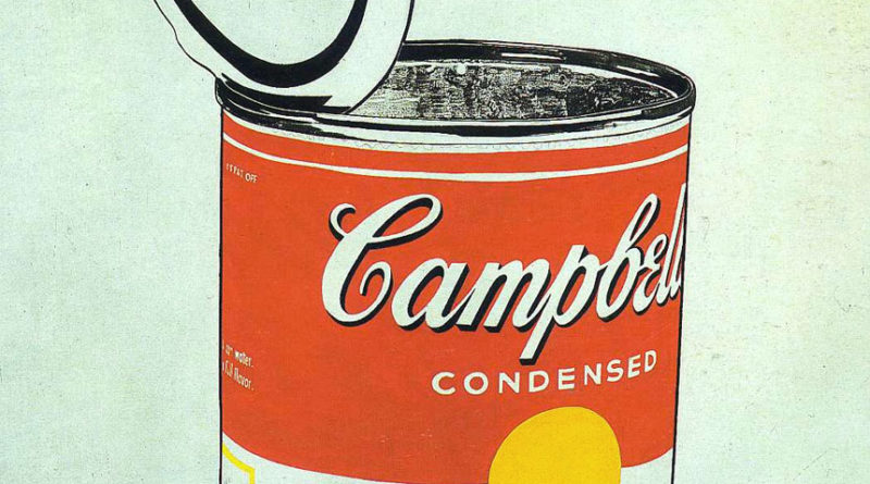 Campbell Soup lattina - opera Andy Warhol