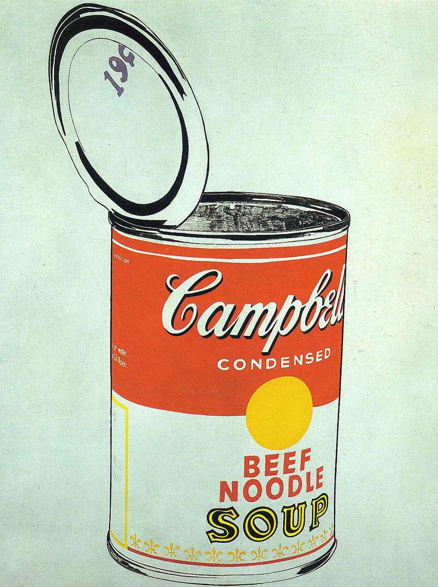 Campbell Soup lattina - opera Andy Warhol