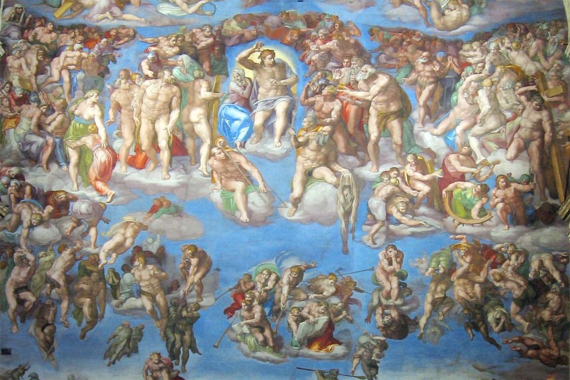 Il Giudizio Universale di Michelangelo (dettaglio)