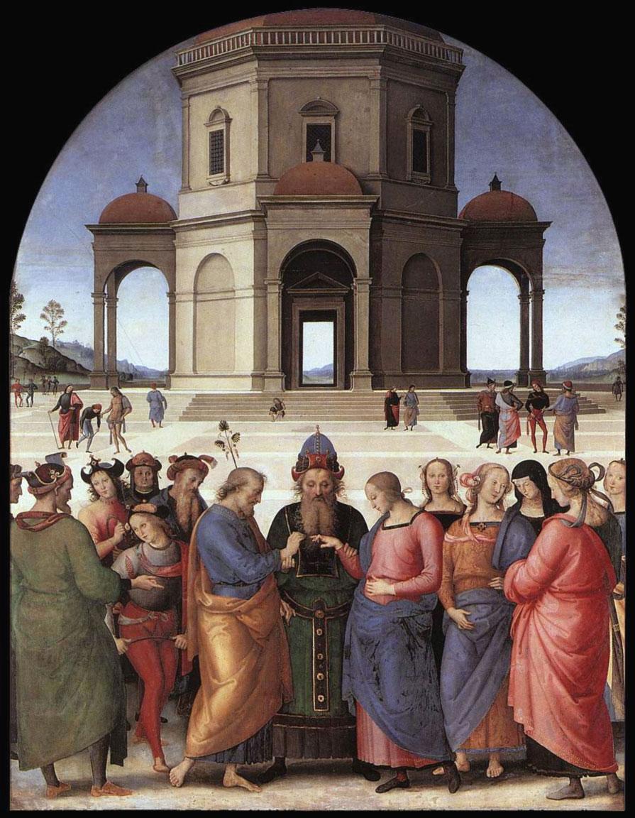 Lo Sposalizio della Vergine - Perugino