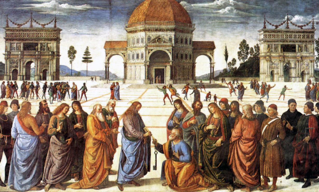 Perugino: Consegna delle chiavi