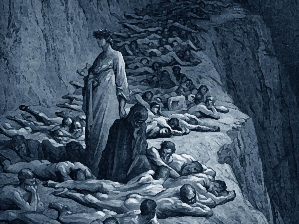 Purgatorio avari - Canto XIX