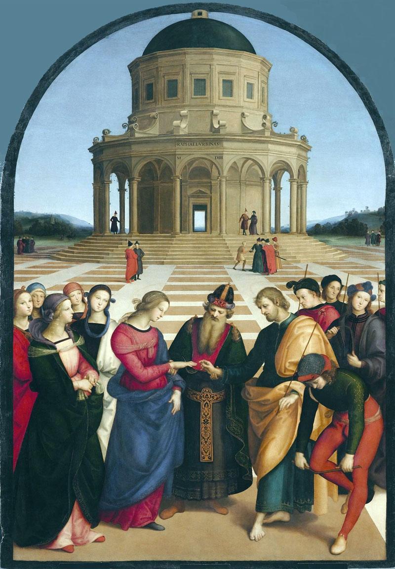 Sposalizio della Vergine, di Raffaello Sanzio
