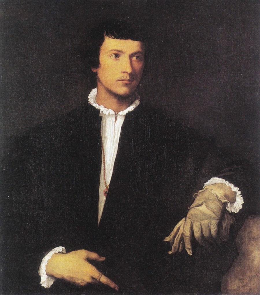 Tiziano - Uomo col guanto (1521)