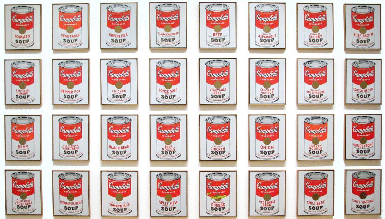 La serie di lattine di Andy Warhol