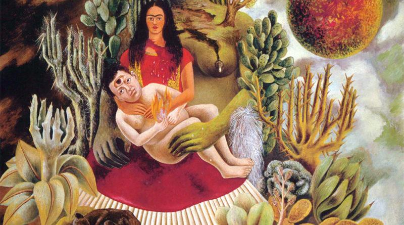Amoroso abbraccio universo - Frida Kahlo