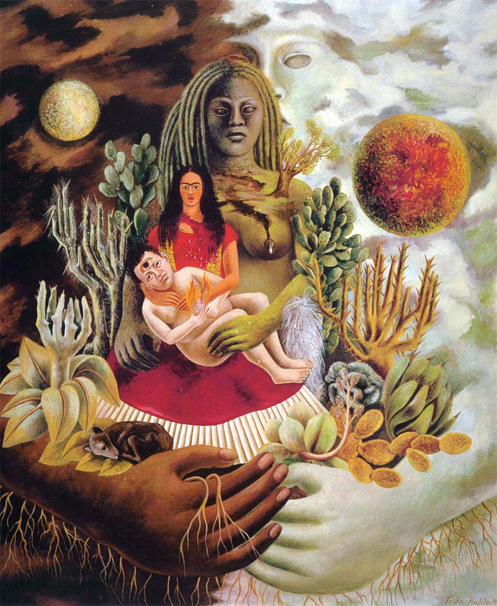 L'amoroso abbraccio dell'universo (Frida Kahlo, 1949)