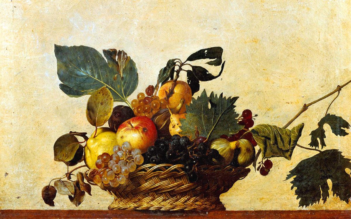 Caravaggio, Canestra di frutta (1596)