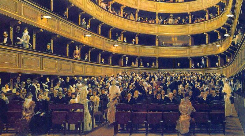 L'interno del vecchio Burgtheater - dettaglio