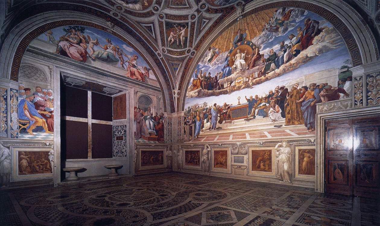 Le stanze vaticane opera di raffaello for Grande disposizione della stanza