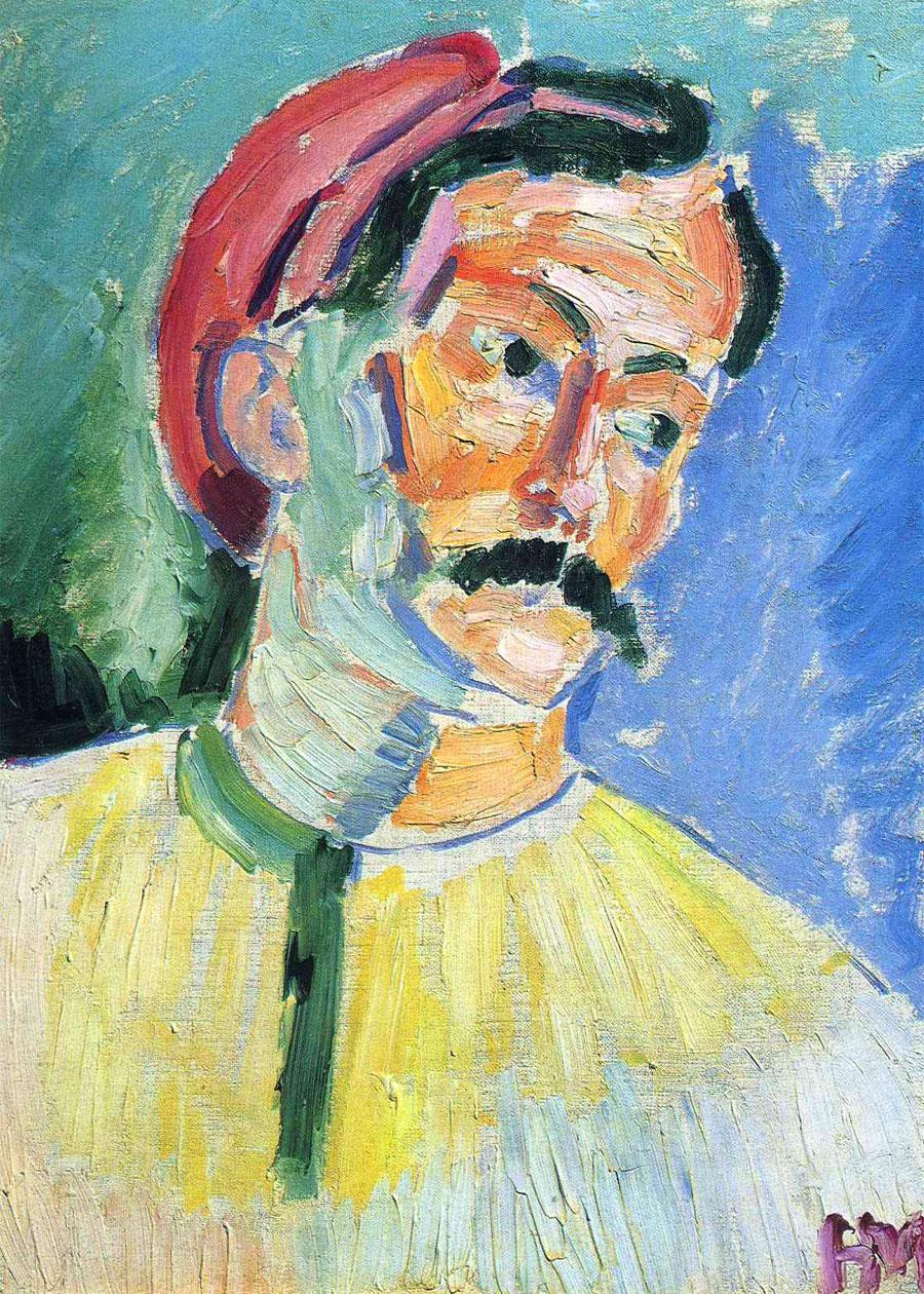 André Derain ritratto da Henri Matisse: olio su tela, cm 39,4 x 28,9. Tate Gallery of British Art (Londra)