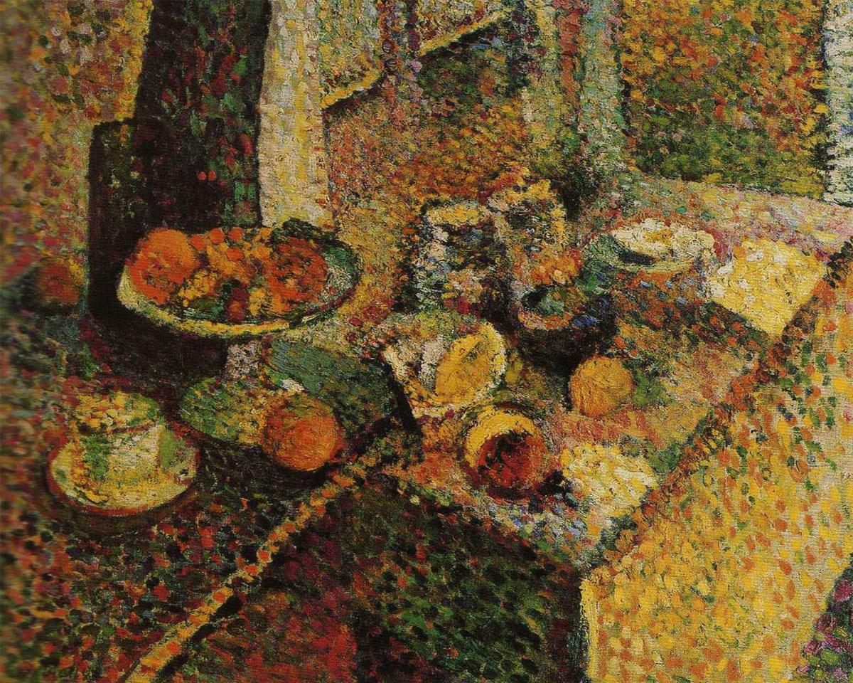 Buffet e tavolo (Matisse, 1898) - Olio su tela: 67,5 x 82,5 cm