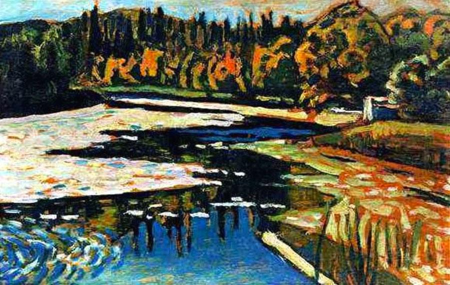 Kandinsky: Fiume d'autunno