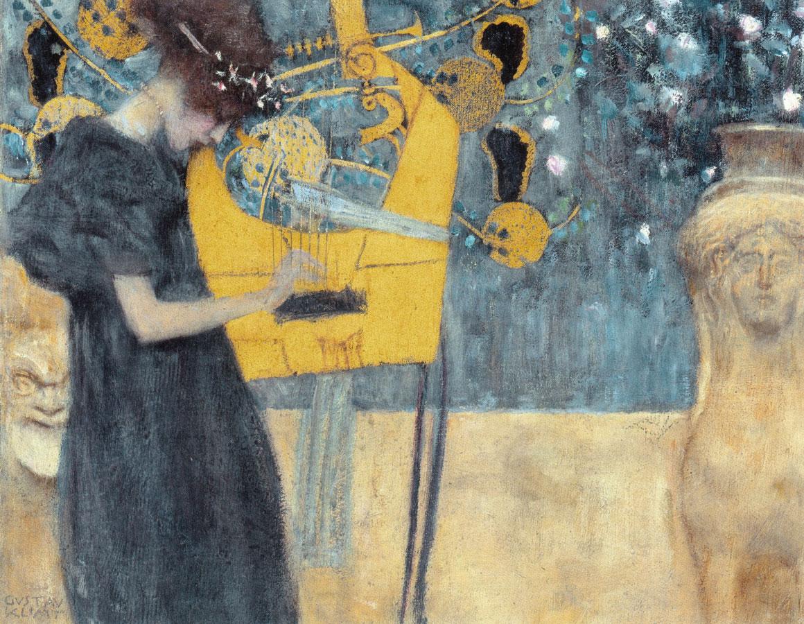 La Musica I, opera giovanile di Klimt (1895)