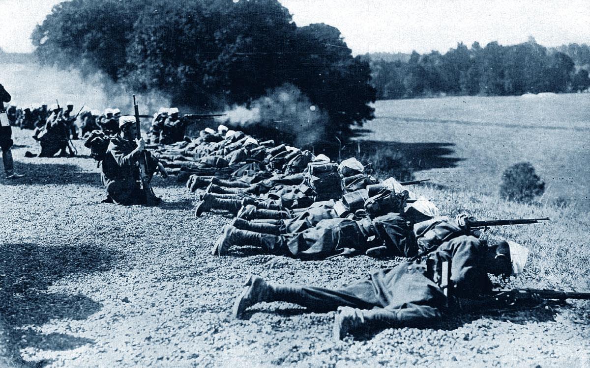 Soldati francesi (Marna, 1914) • Prima guerra mondiale (la Grande Guerra)