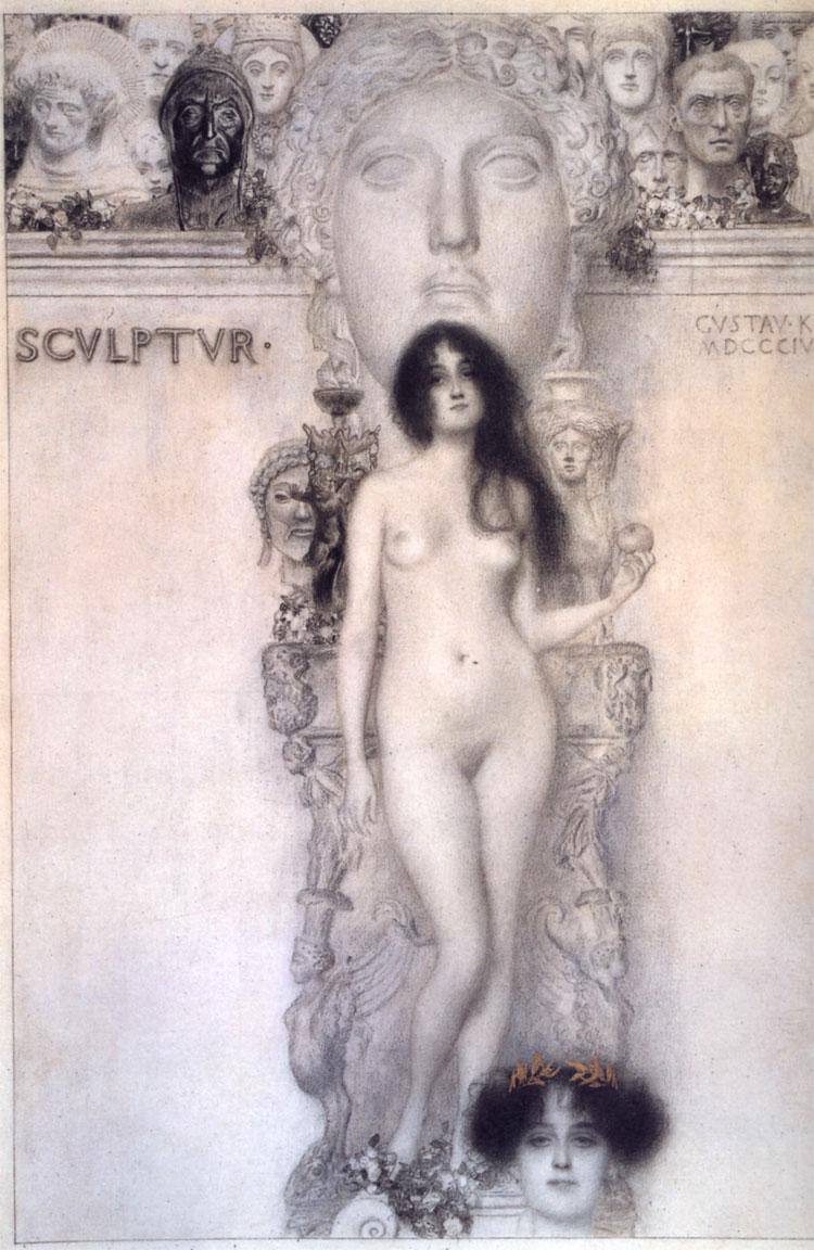 Klimt: Scultura (1896)