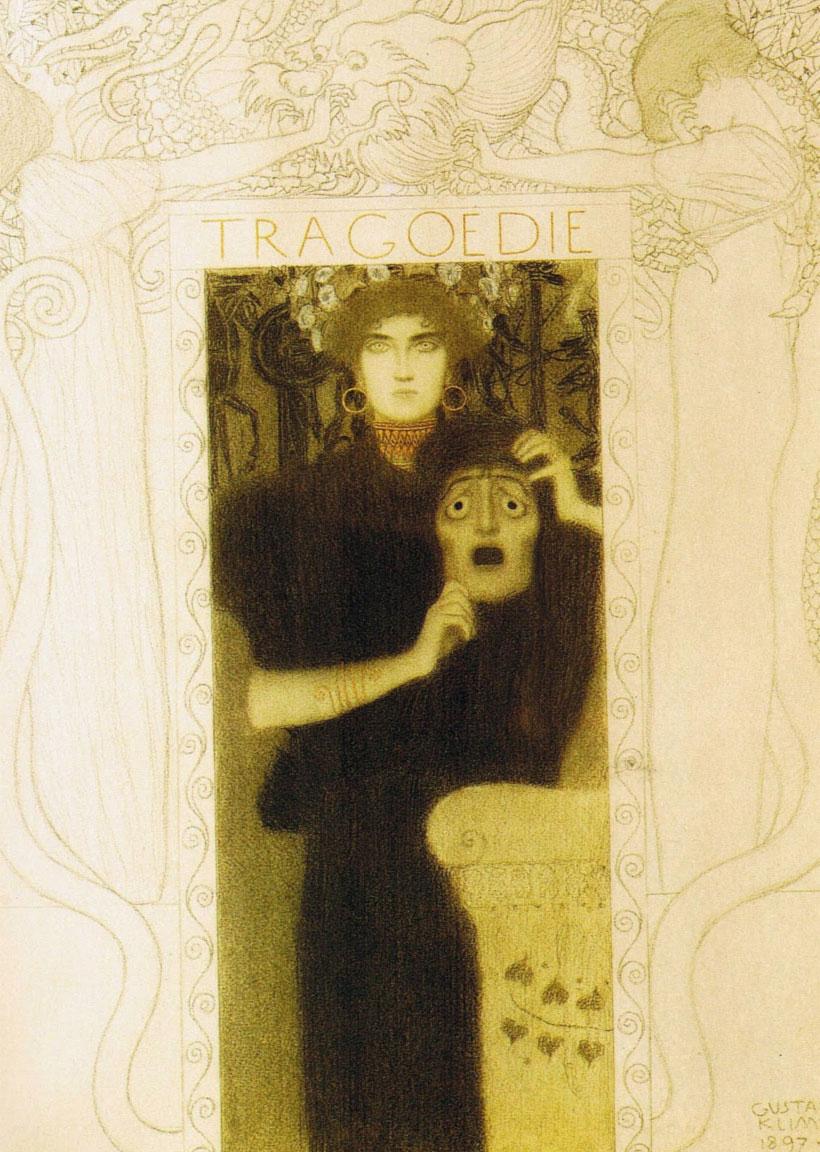 Tragedia (Klimt) : disegno intero