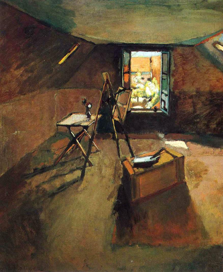 Henri Matisse: lo studio sotto i tetti  (opera del 1903)