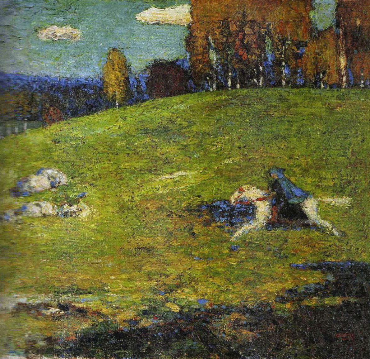 Cavaliere azzurro - opera di Kandinsky