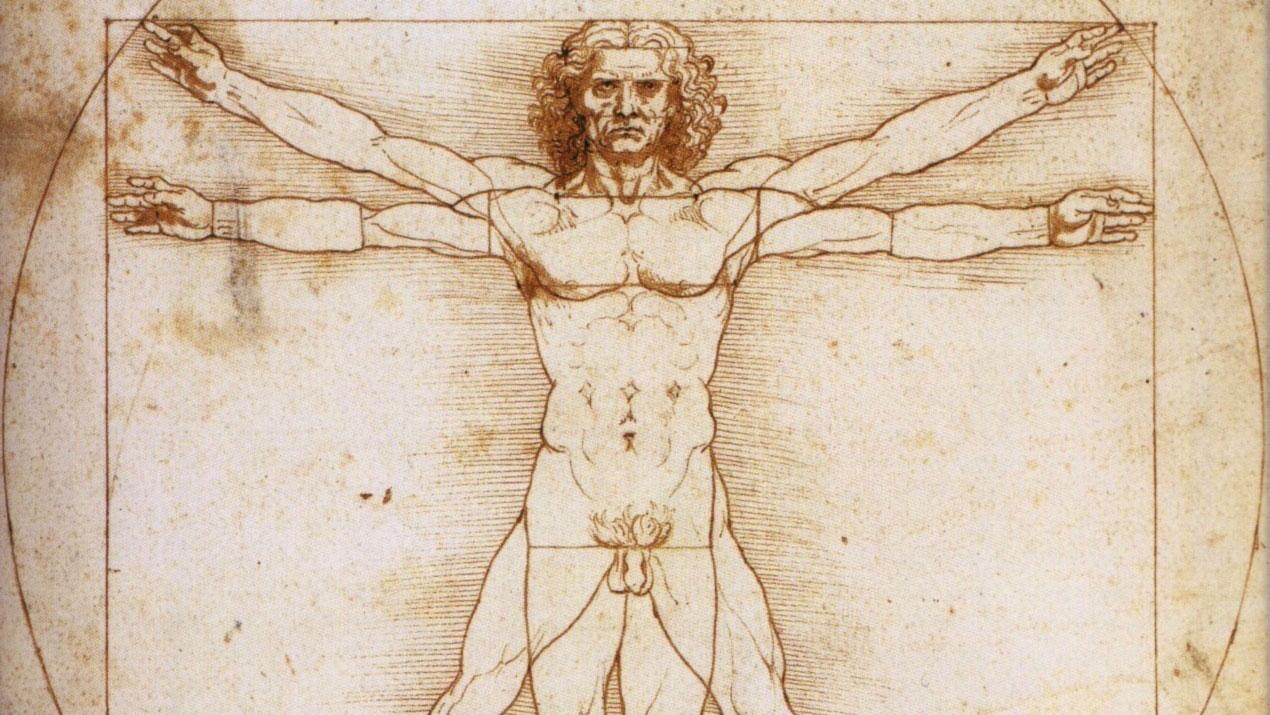 Uomo Vitruviano: disegno di Leonardo da Vinci