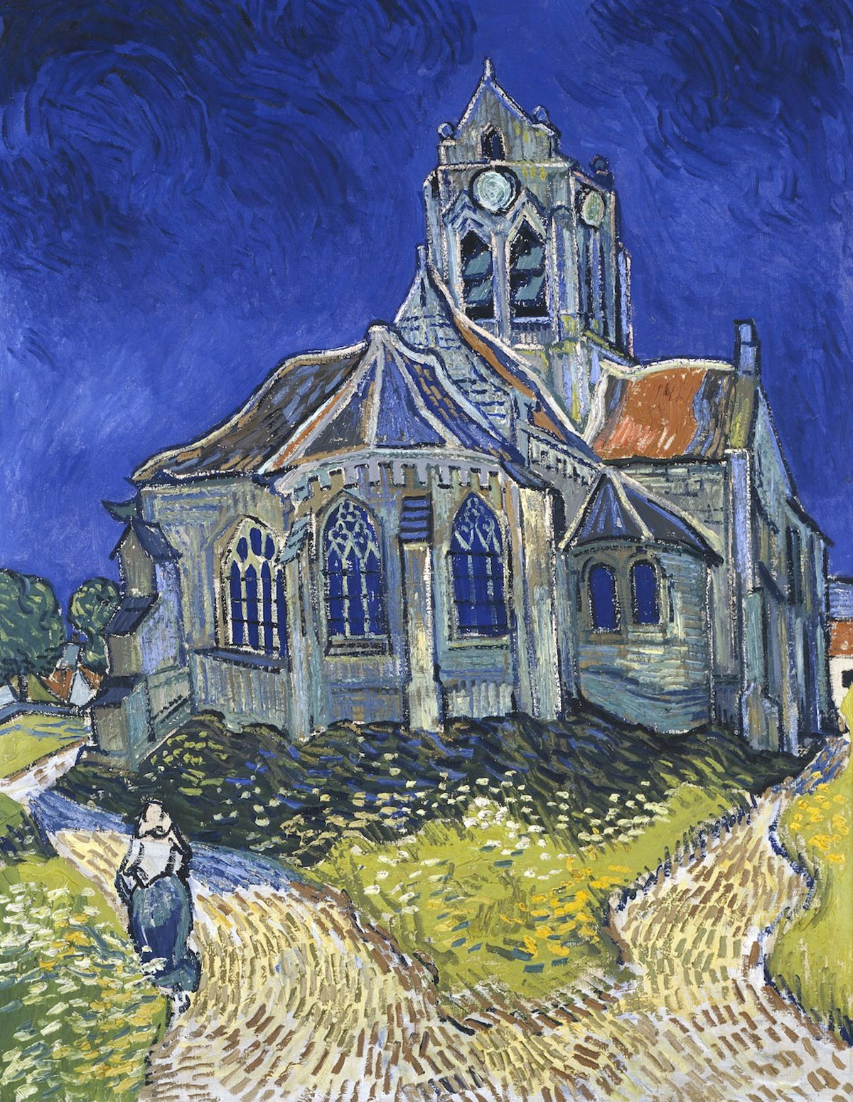 La chiesa di Auvers-sur-Oise, veduta dalla parte absidale: quadro di Vincent Van Gogh
