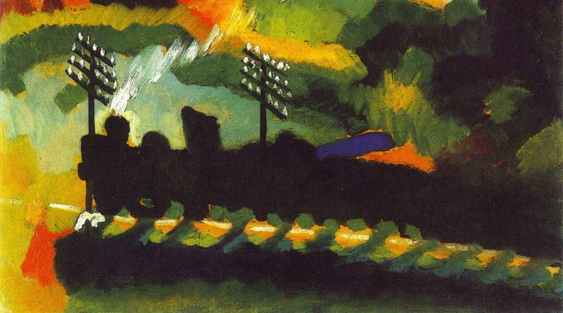 Murnau - Veduta con ferrovia e castello - Kandinsky (1909)