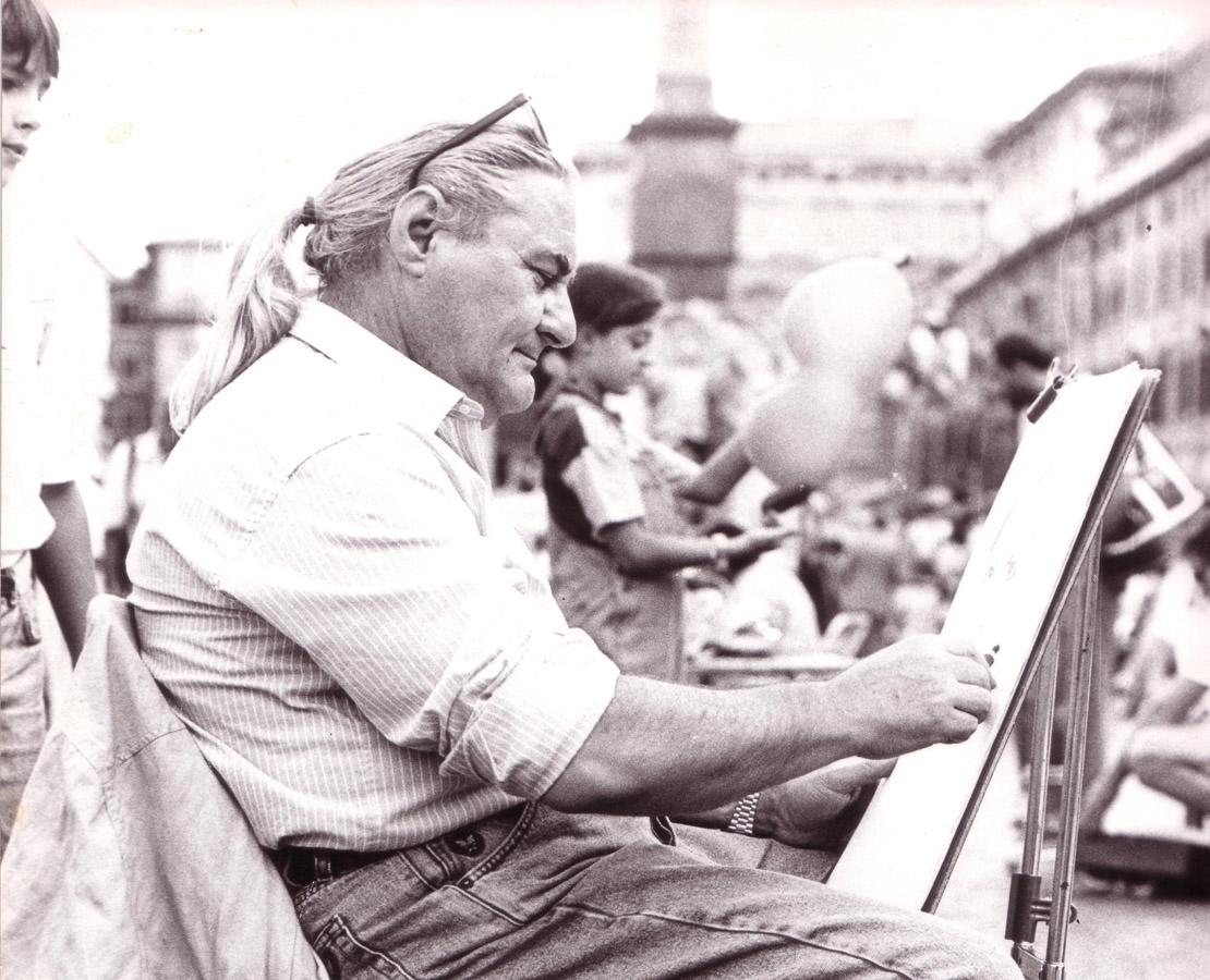 Roma: Paolo Salvati in Piazza Navona