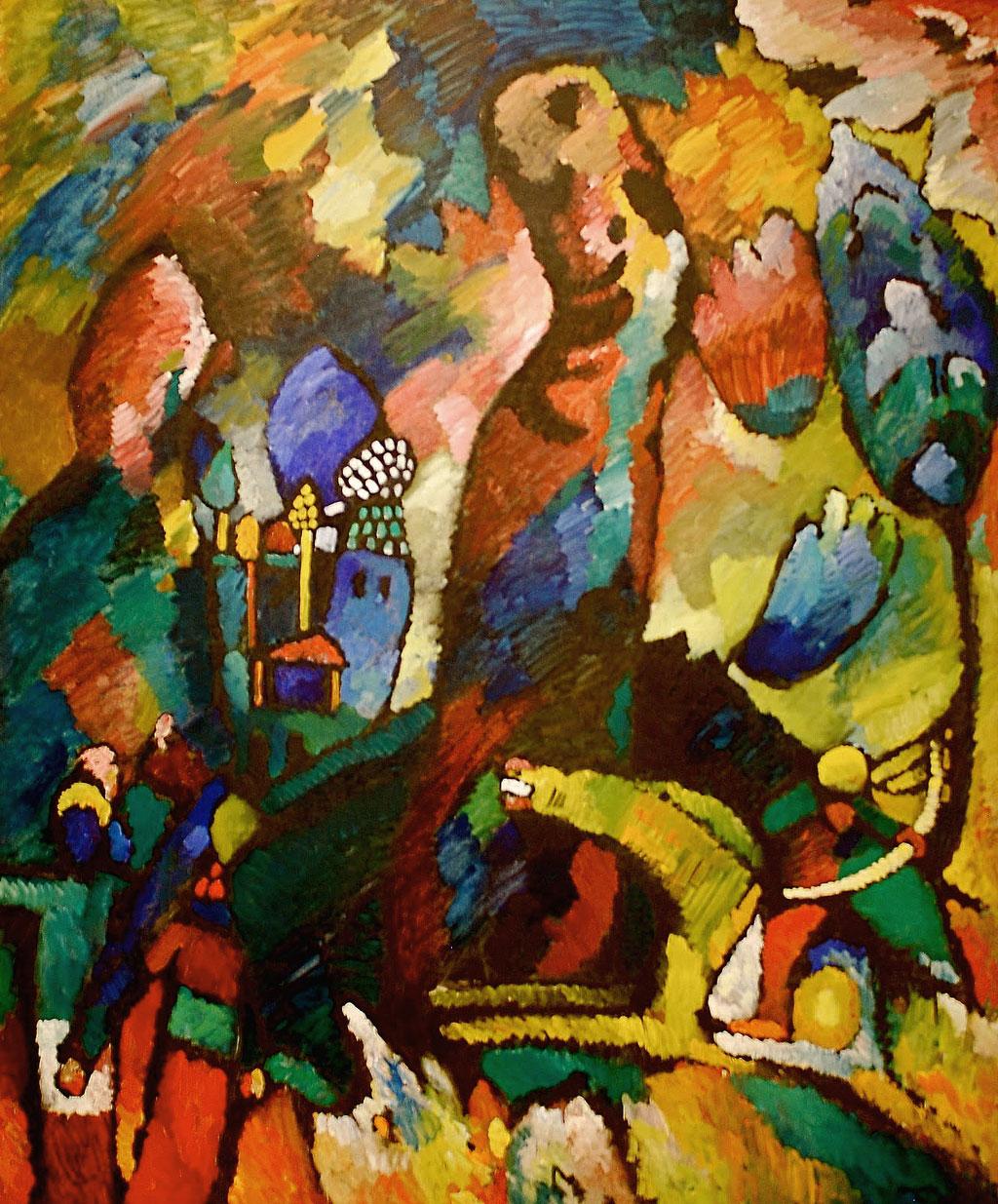 Wassily Kandinsky: Quadro con arciere (1909, MoMA di New York)
