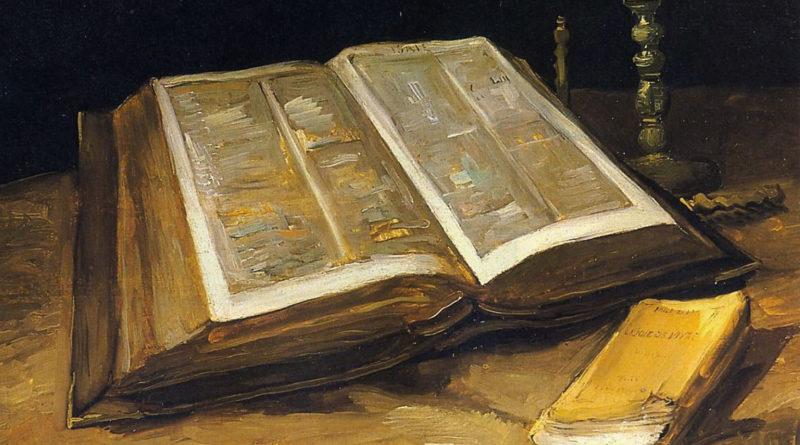 Van Gogh: Natura morta con Bibbia