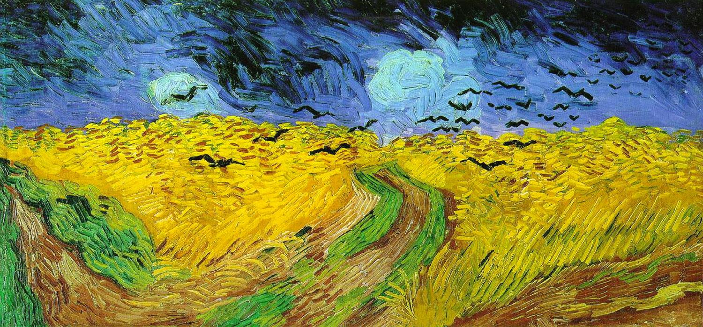 Vincent van Gogh: Campo di grano con volo di corvi (1890)