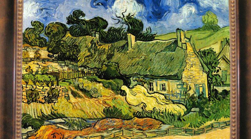 Casolari con tetti di paglia a Cordeville: quadro famoso di Vincent Van Gogh