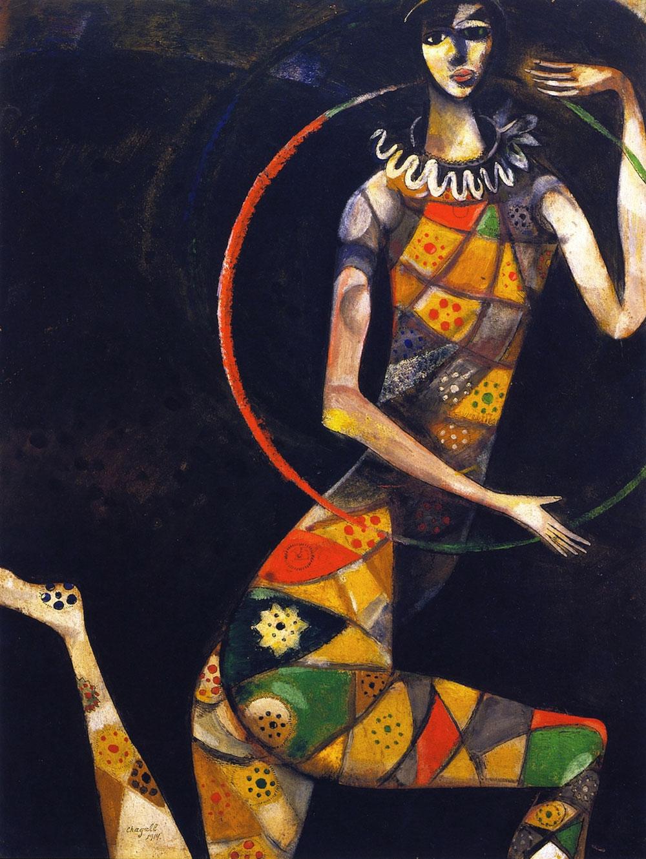 Chagall - Acrobata - Acrobat - 1914