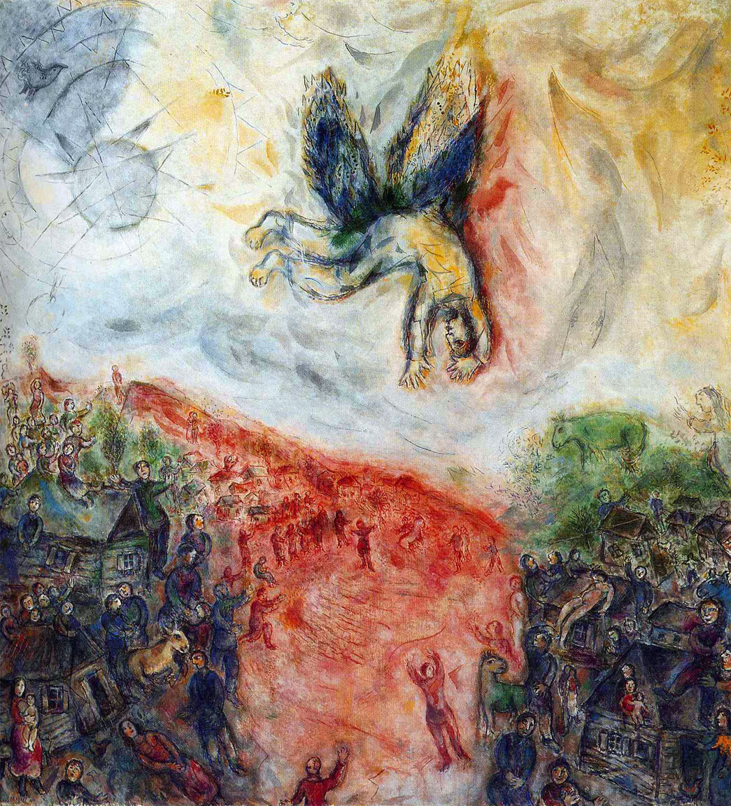 The Fall of Icarus (La Caduta di Icaro, Marc Chagall, 1975)