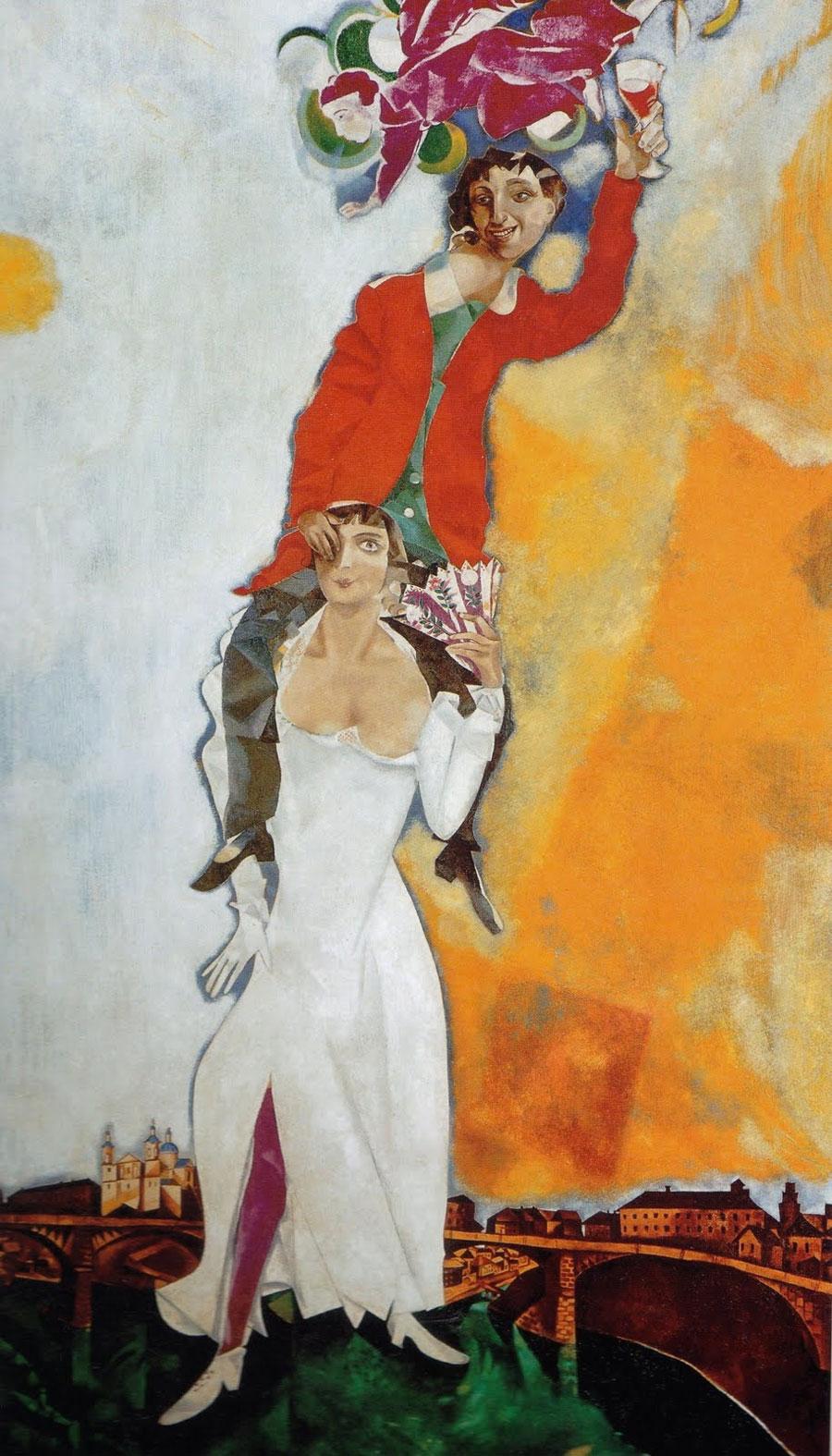 Chagall - Doppio ritratto con bicchiere di vino