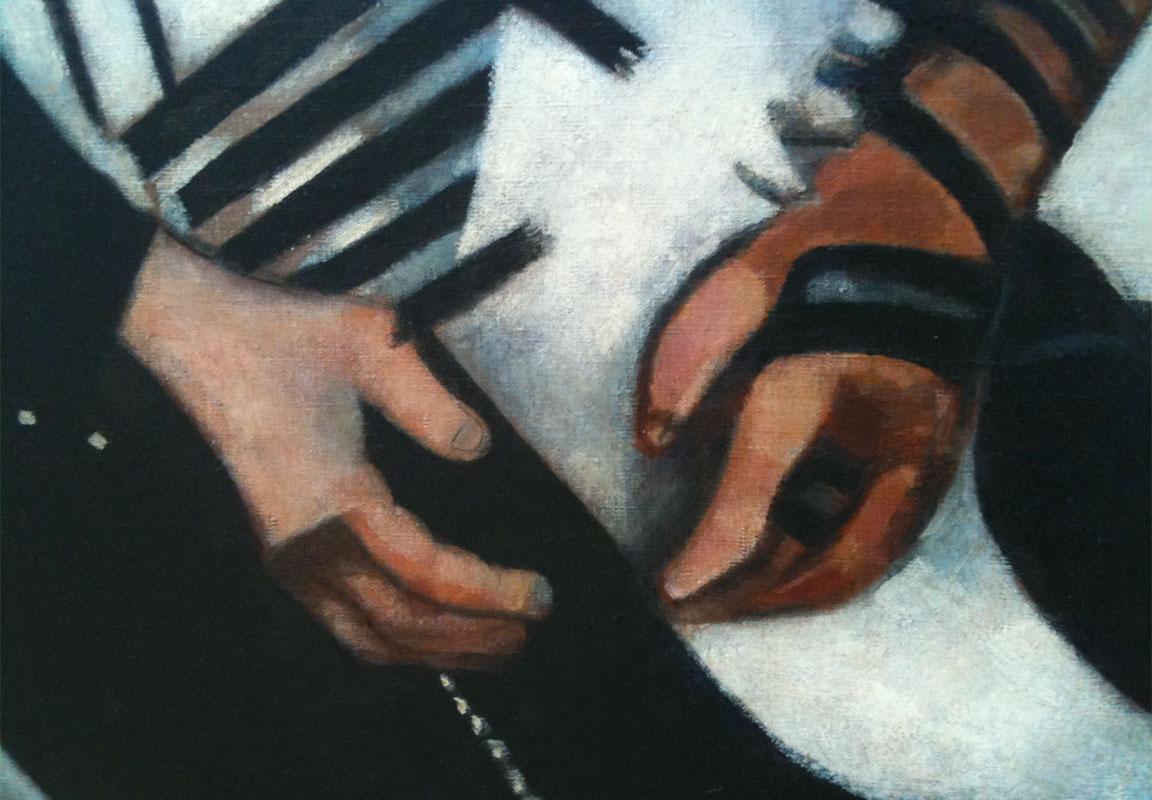 Chagall - Ebreo in preghiera: dettaglio delle mani