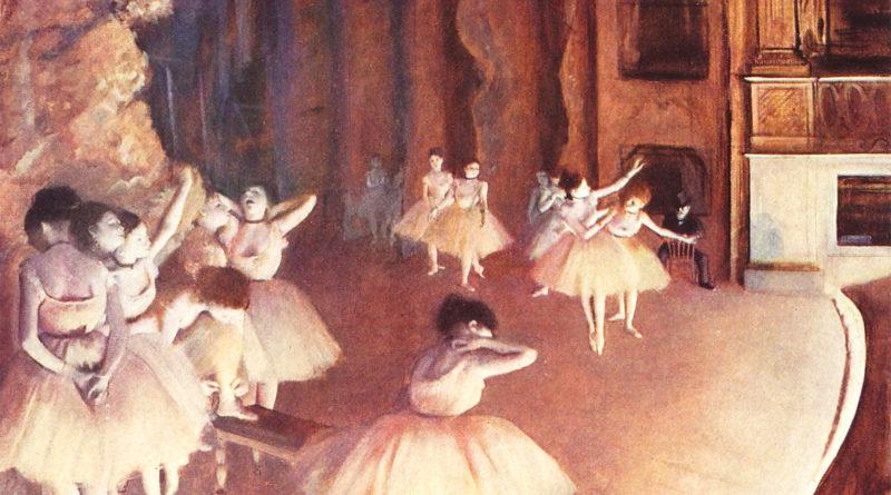 Degas - Prova generale di balletto in scena