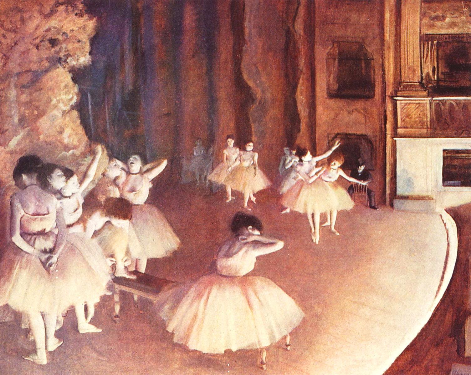 Prova generale di balletto in scena (Degas, 1874)