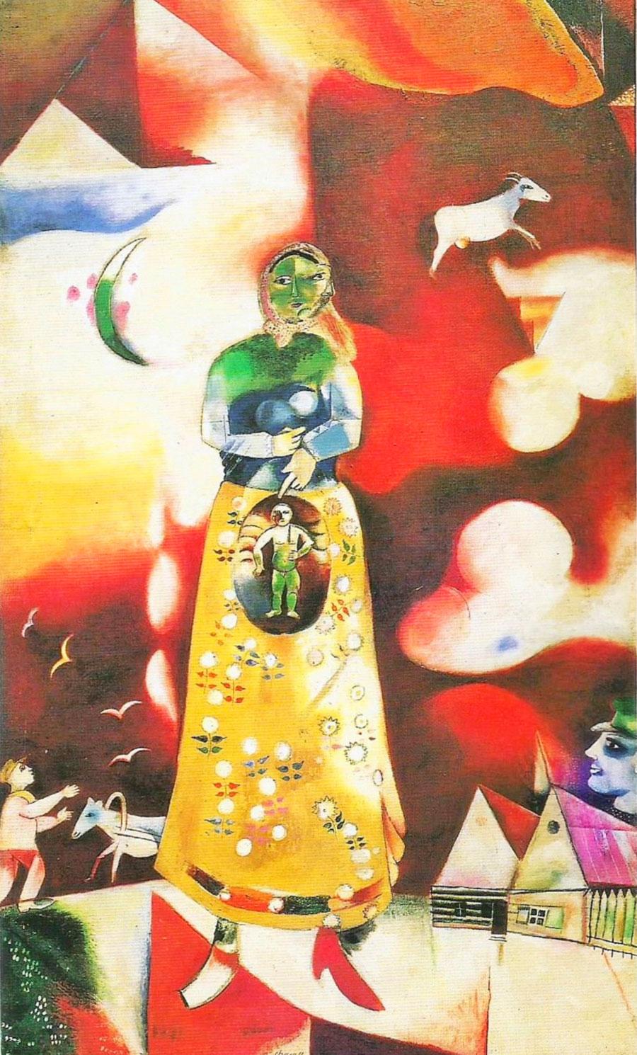 Marc Chagall: Donna incinta (1913)