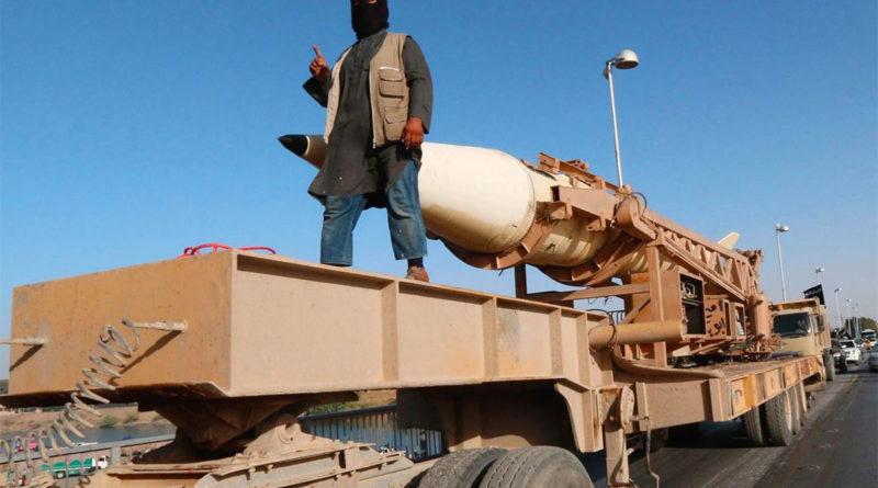 Luglio 2014: un missile Scud mostrato dall'Isis per propaganda