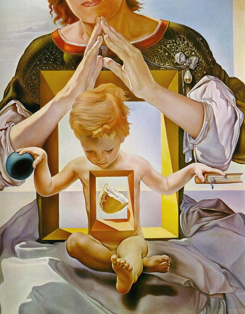 Madonna di Port Lligat - 1950: dettaglio del pane