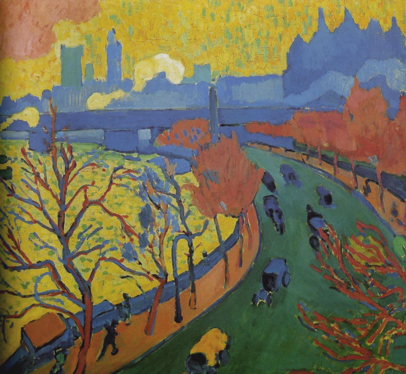 André Derain: Il Ponte di Charing Cross conosciuto anche come Ponte di Westminster (1906)