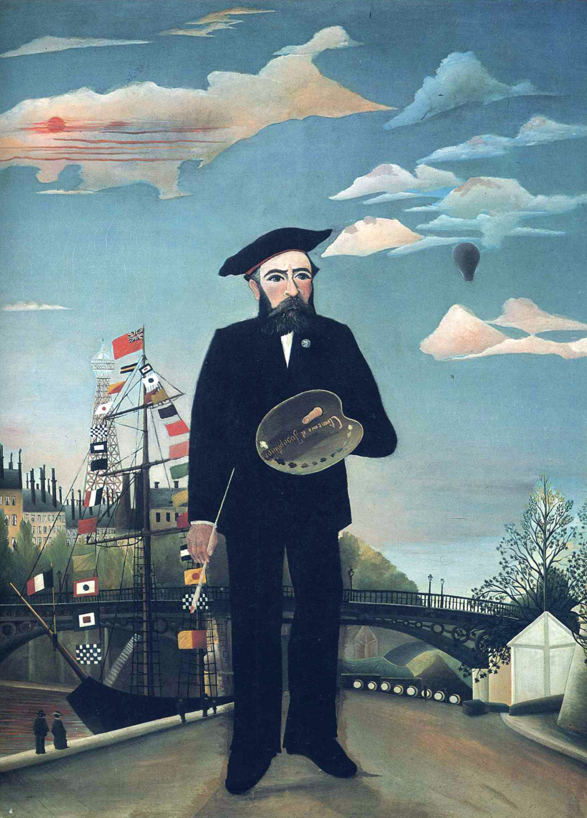 Autoritratto come pittore (Henri Rousseau, 1890)