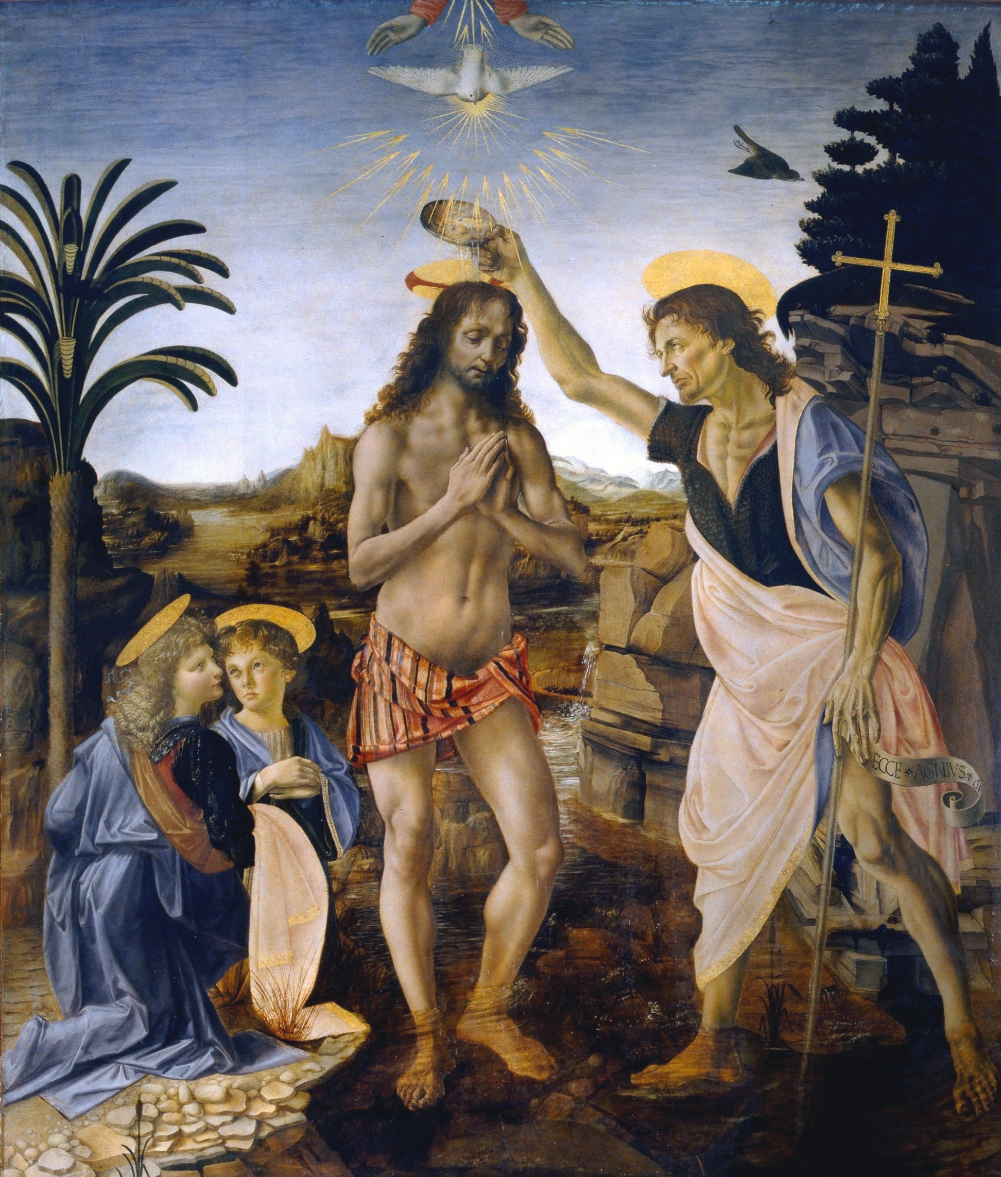 Leonardo da Vinci: Battesimo di Cristo (1470 ca.)