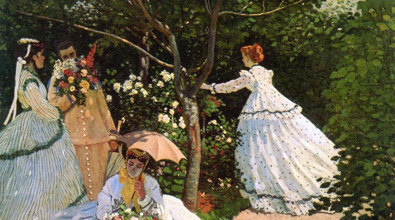Donne in giardino - Monet - 1866