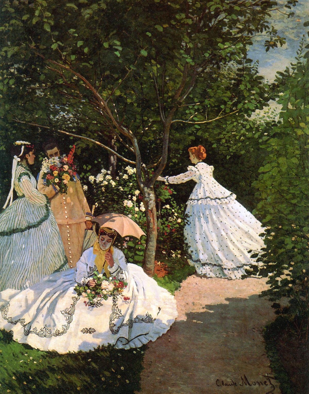 Donne in giardino (Claude Monet, 1866)