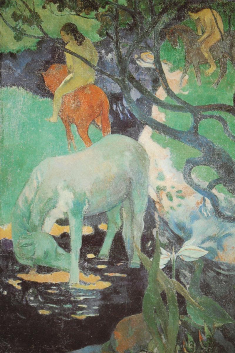 Il cavallo bianco - Gauguin - 1898 - Cheval blanche - White horse
