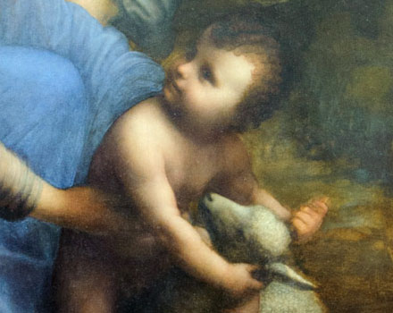 Gesù bambino con l'agnellino (un dettaglio del quadro)