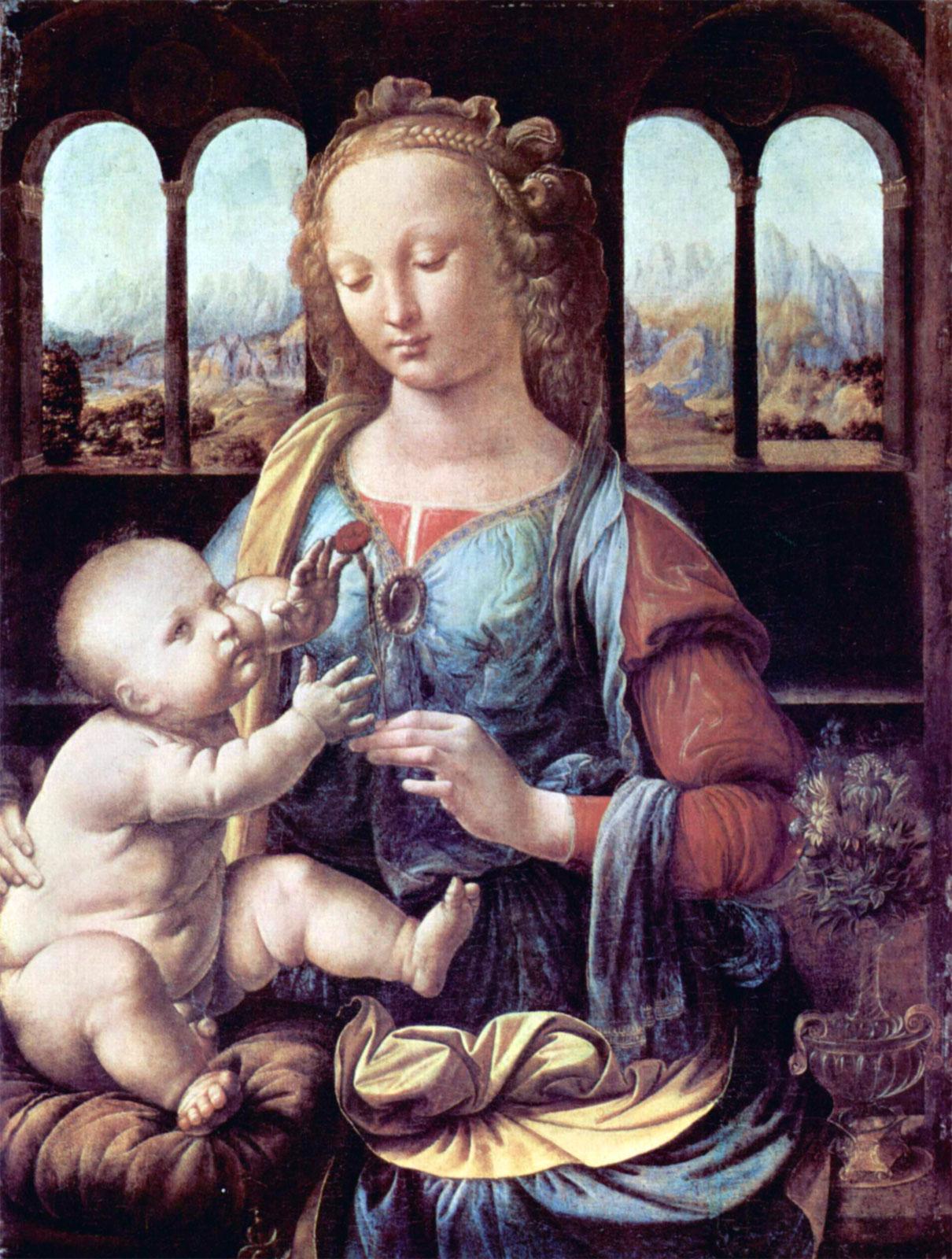 Leonardo: Madonna del Garofano (1473)